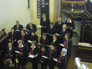 Énekkarunk szolgálat közben